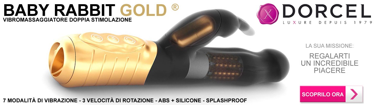 vibratore rotante baby rabbit gold marc dorcell